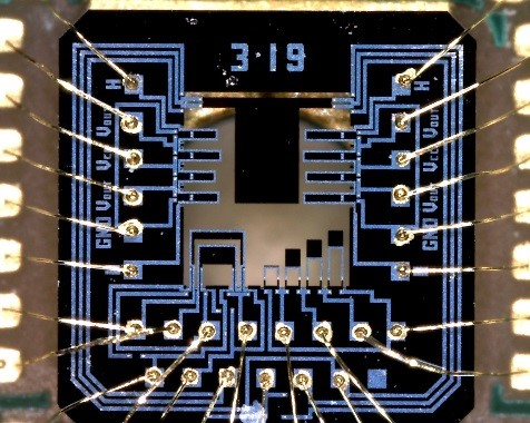 multi-parameter measuring chip on dedicated PCB carrier